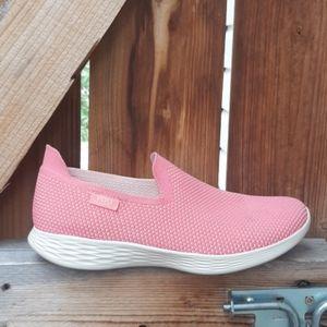 Skechers you walk slip on sneakers size 9.5 pink